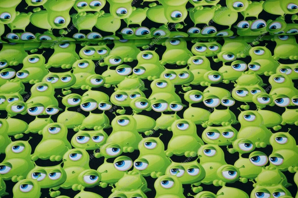 Õhuke dressikangas/ French Terry rohelised kollid