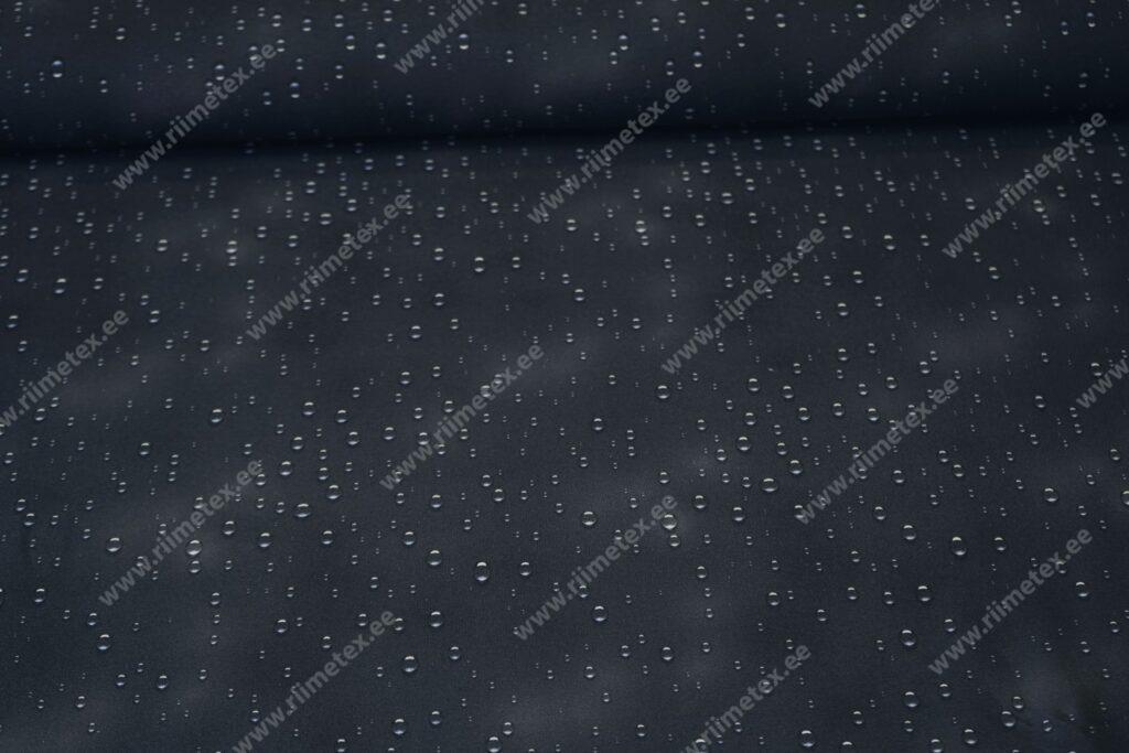 Õhuke dressikangas/ French Terry, piisad tumedal hallikas-sinisel