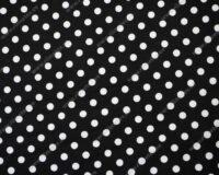 Täpiline must/valge dressikangas