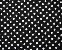 Täpiline must/valge seest uhutud dressikangas
