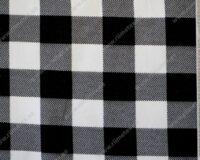 Ruuduline must/valge dressikangas