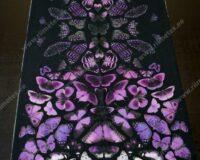 Lillad liblikad, paneel, õhem trikotaaž /Single Jersey/
