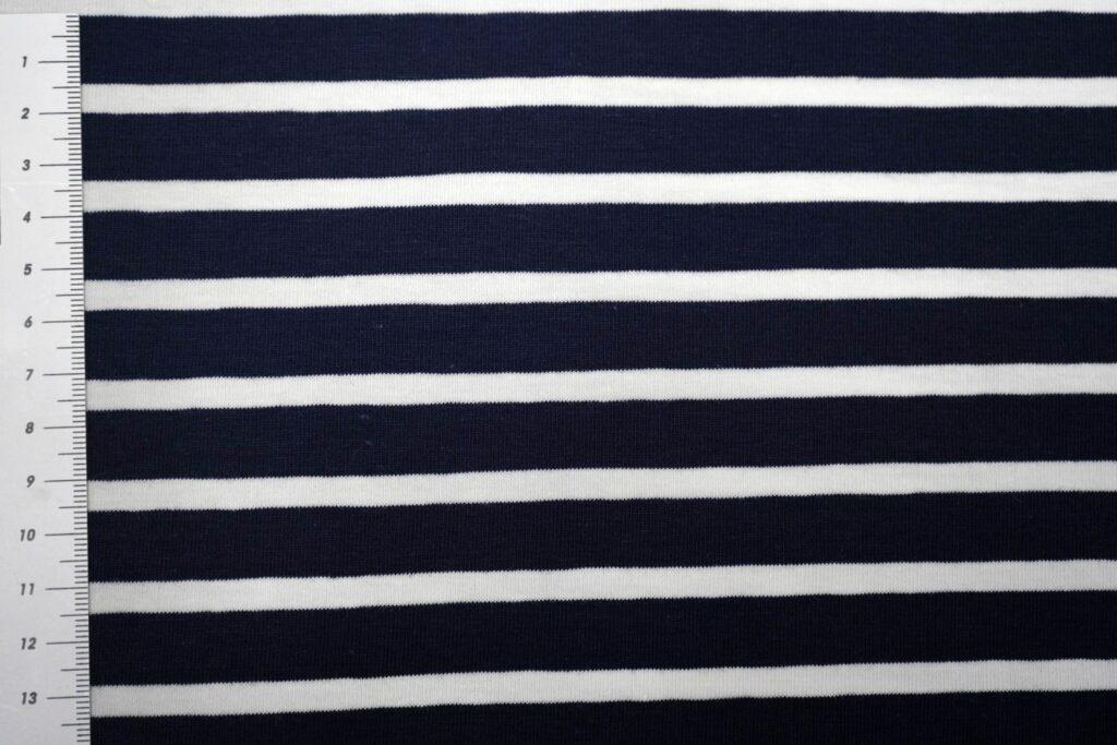 Triibuline, tumesinine/ valge triip, Single Jersey
