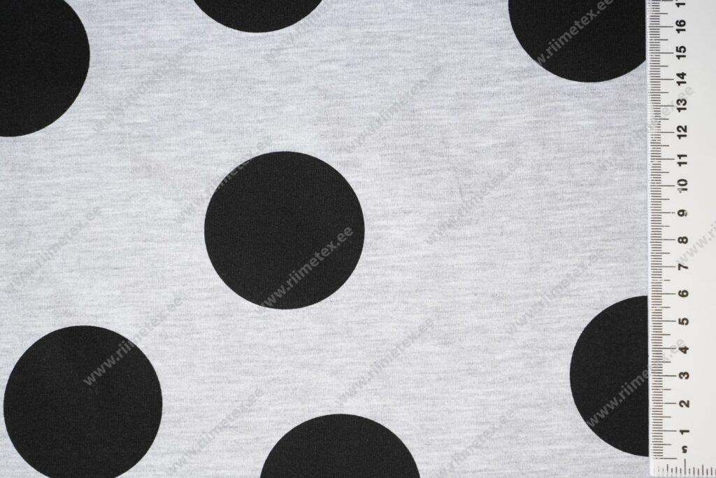 Helehall meleeritud mustade mummudega Single Jersey