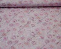 Bambusviskoosist trikotaaž, roosa õiemeri, Single Jersey