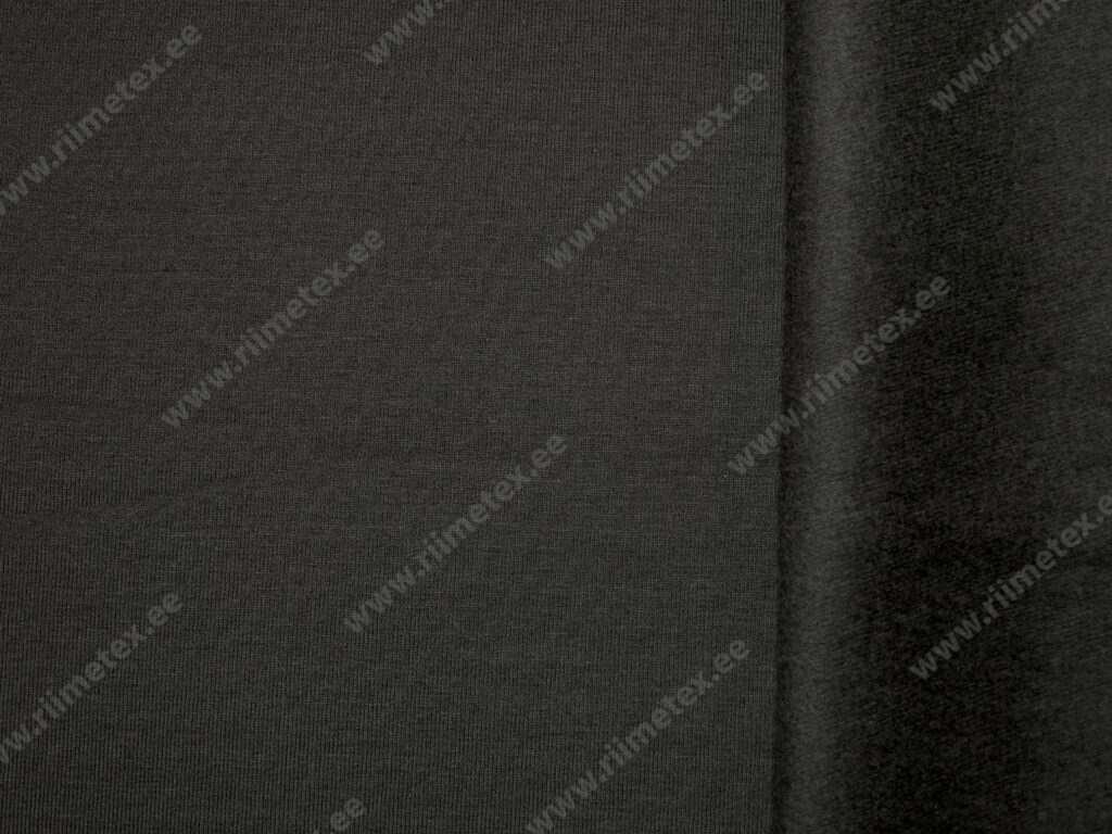 Tumehall (Dark Gray) seest uhutud dressikangas 0,22m/tk