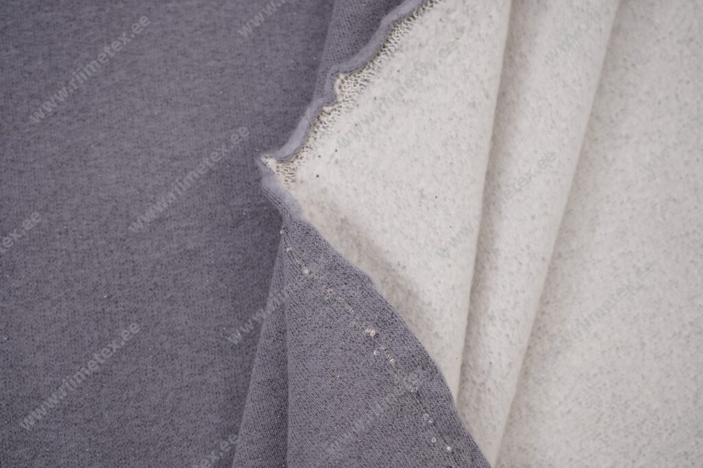 Dressikangas sädelusega hall, kergelt seest uhutud (French Terry)