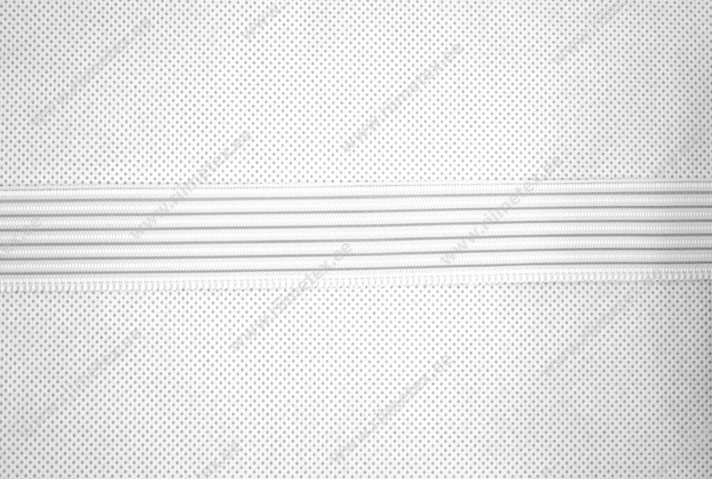 Läbiõmmeldav kumm, keskmine tugevus, valge 25mm