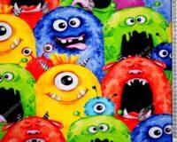 Õhuke dressikangas (French Terry), värvilised kollid