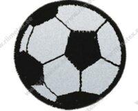 Triigitav helkiv embleem tekstiilist, jalgpall