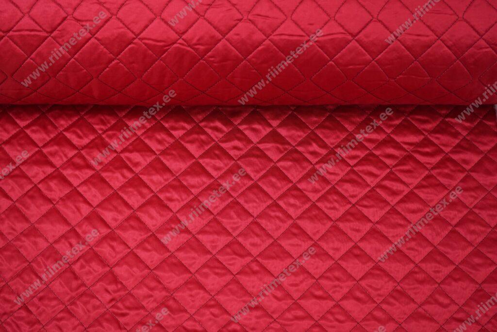 Tepitud viskoosvooder õhukesel vatiinil, punane