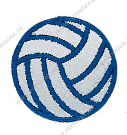 Triigitav helkiv embleem tekstiilist, võrkpall