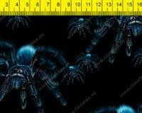 Sinised tarantlid mustal, õhem trikotaaž /Single Jersey/