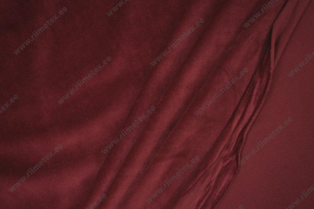 Veluur-trikotaaž, tumepunane