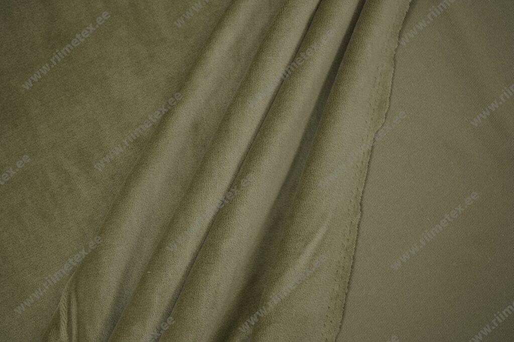 Veluur-trikotaaž, hele oliiviroheline