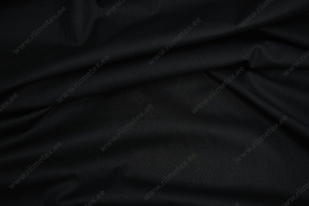 Must orgaaniline (GOTS) puuvillapopliin