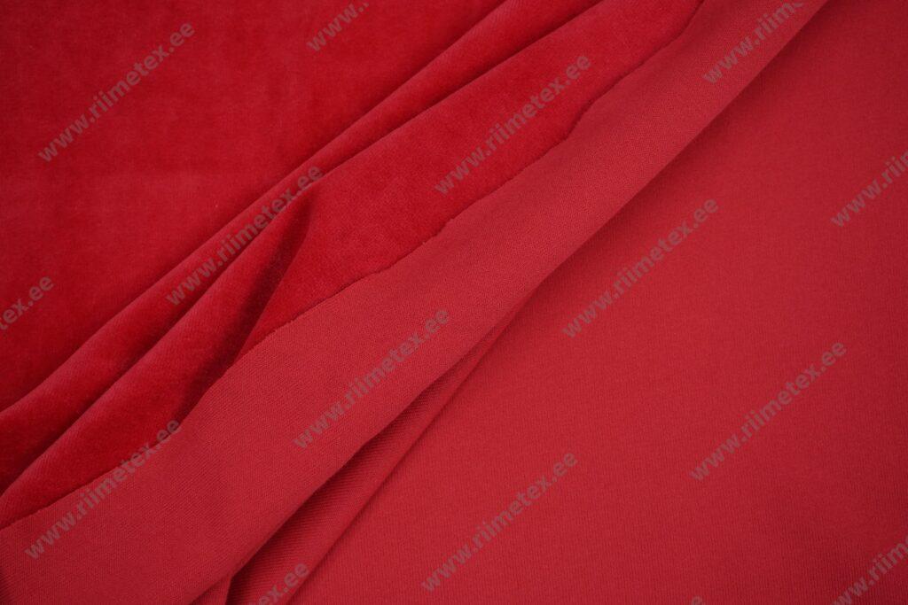Veluur-trikotaaž, punane