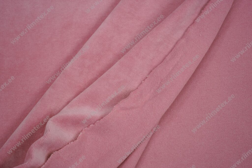 Veluur-trikotaaž, roosa