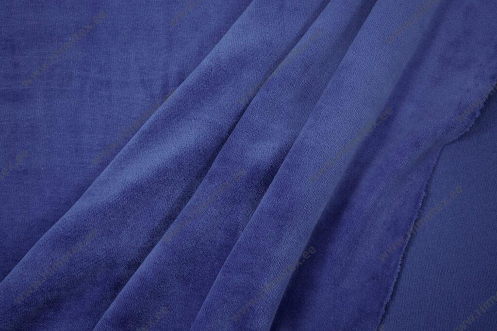 Veluur-trikotaaž, royal-sinine