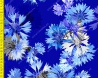 Suured rukkililled sinisel õhem trikotaaž /Single Jersey/
