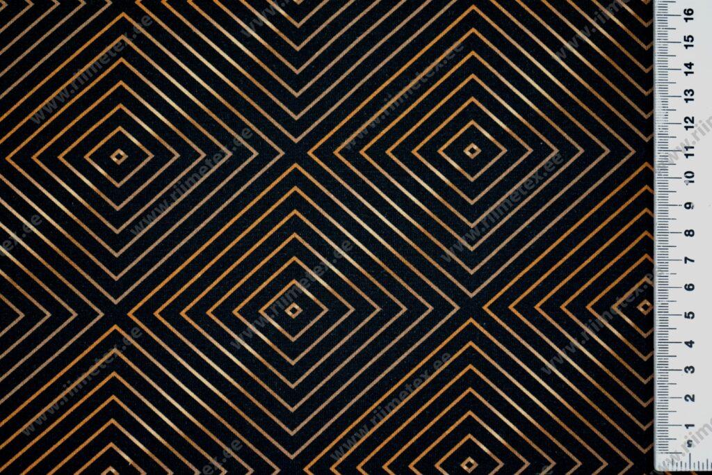 """Optiline illusioon must/""""kuldne"""", õhem trikotaaž /Single Jersey/"""