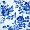 trikotaažkangas sinised lilled valgel