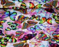Trikotaažkangas erksavärvilised liblikad, Single Jersey