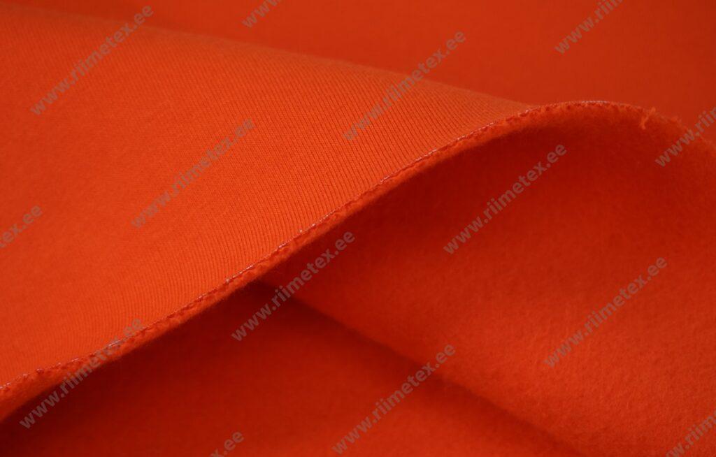 Dressikangas, oranž paks seest uhutud (Heavy Brushed)