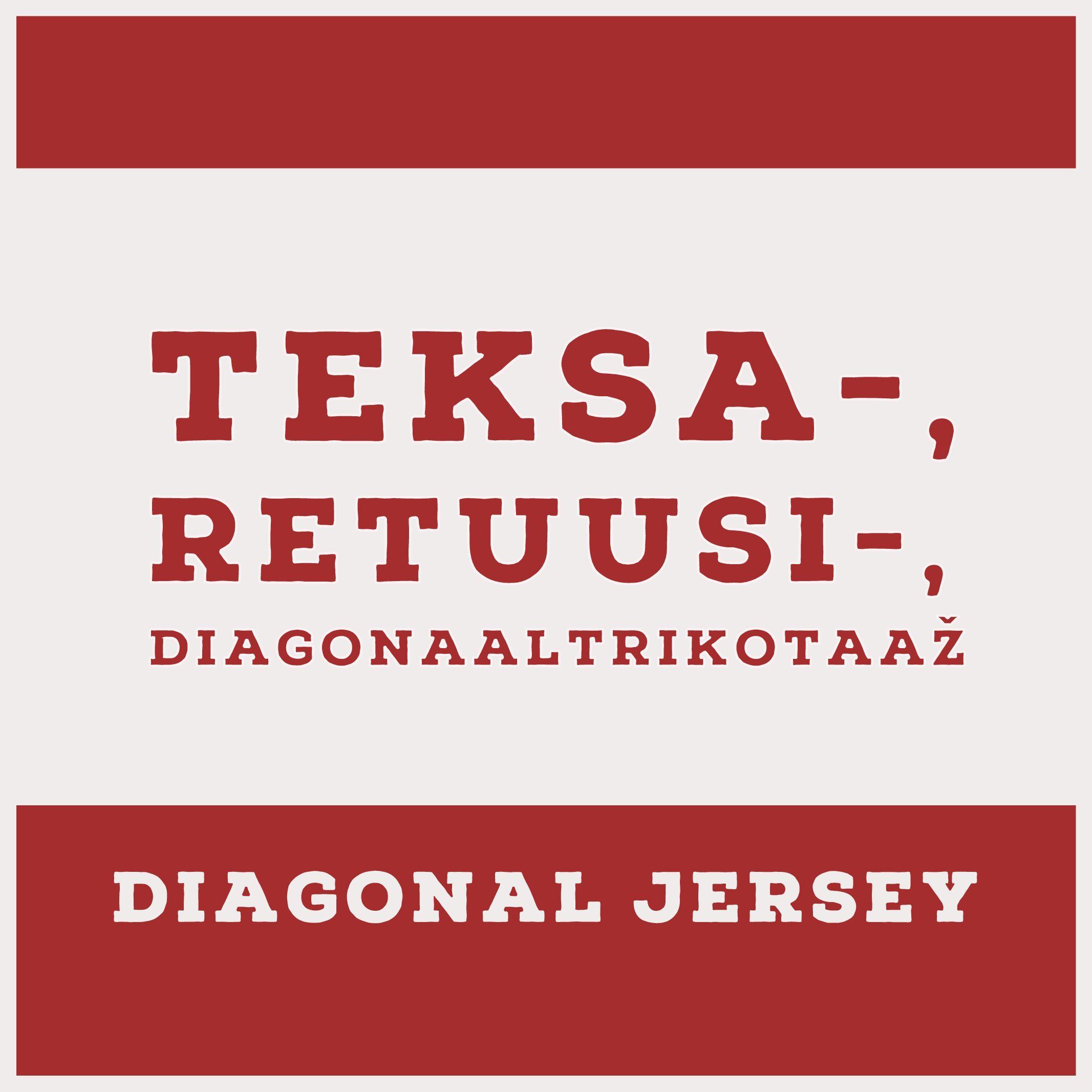 Teksatrikotaaž /diagonaaltrikotaaž-retuusikangas (Jeans Jersey)