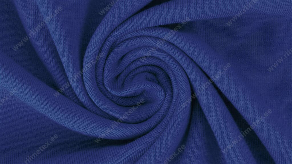 "Dressikangas sinine (Nautical Blue) / French Terry, ""aasaline"""