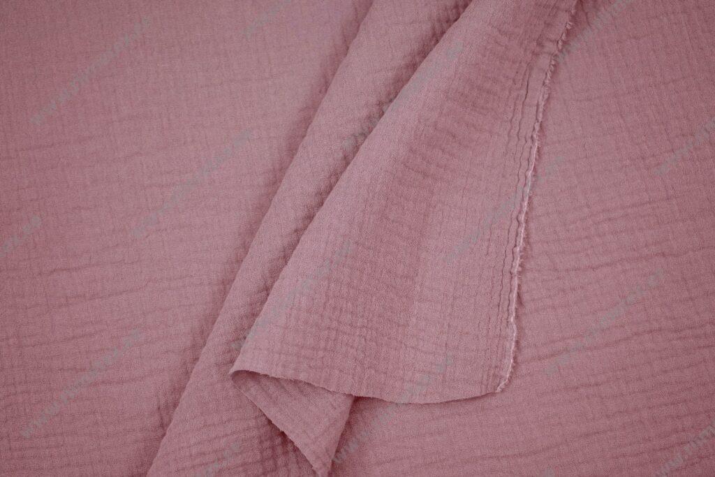 Musliinkangas roosa/vanaroosa, kahekordne