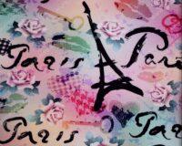 "Dressikangas Romantiline Pariis (""aasaline"") / French Terry"