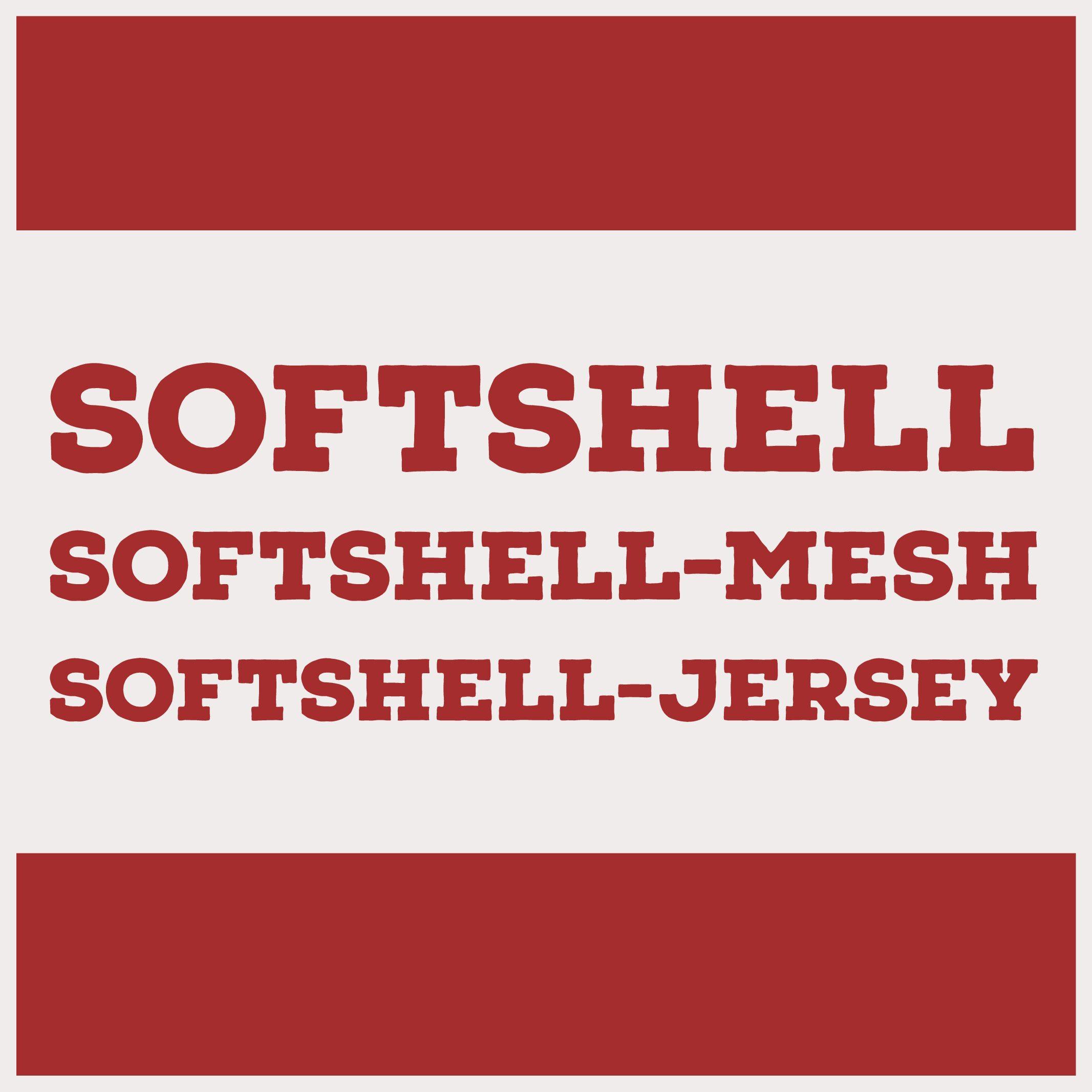 Softshell Soft-mesh Soft-jersey - veekindlad kangad õueriietele