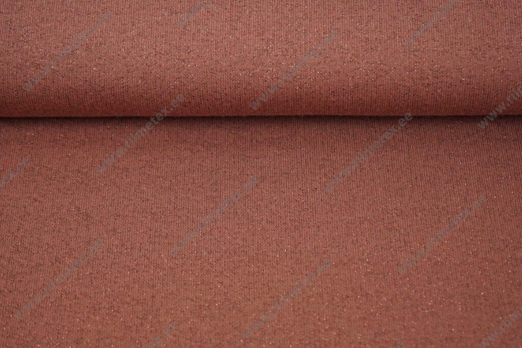 Dressikangas sädelusega terrakota, kergelt seest uhutud (French Terry)