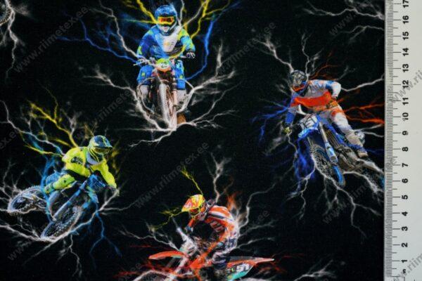 Trikotaažkangas värvilised tsiklid