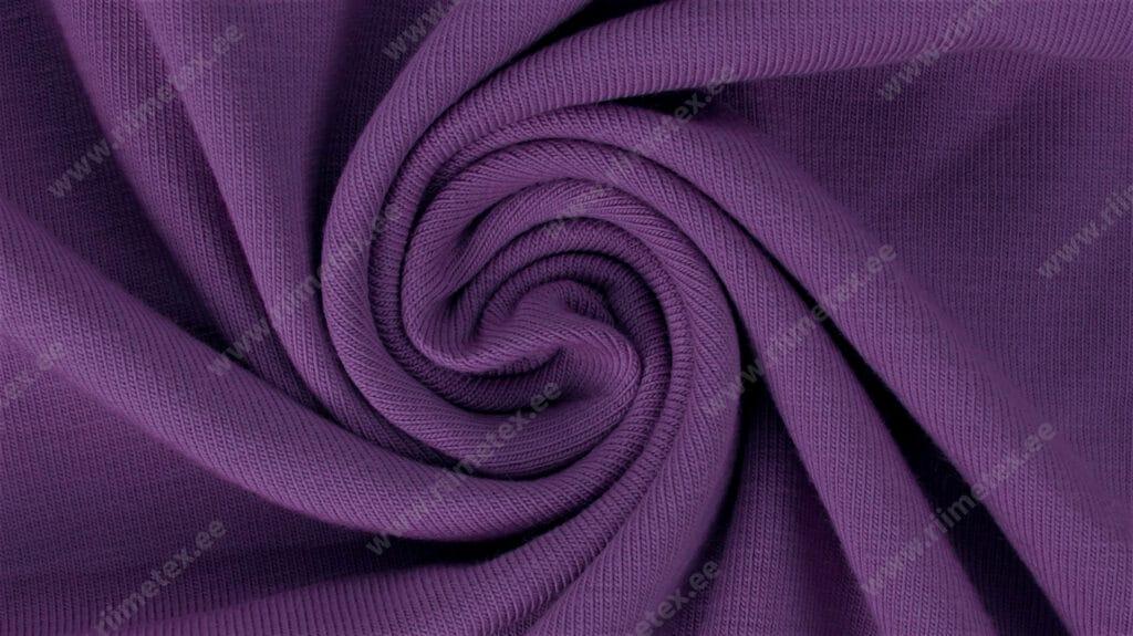 "Dressikangas tumedam lilla (Royal Lilac) /French Terry ""aasaline"""