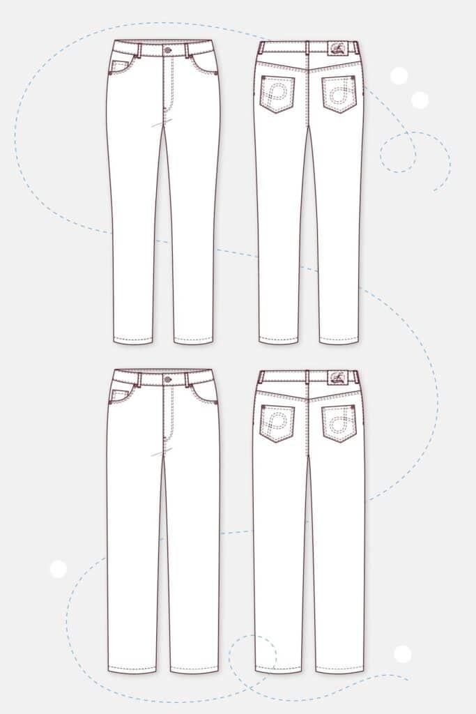 Pattydoo naiste kõrge värvliga teksapükstelõige, suurused 32 - 54