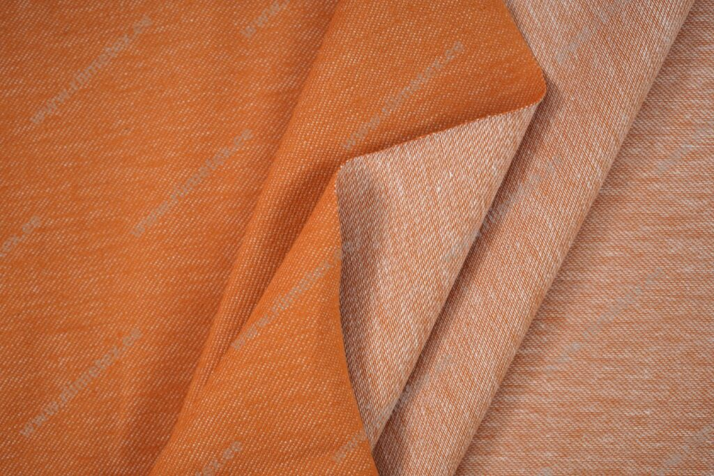 Teksatrikotaaž tuhm oranž/hele tellis (diagonaaltrikotaaž / Jeans Jersey)