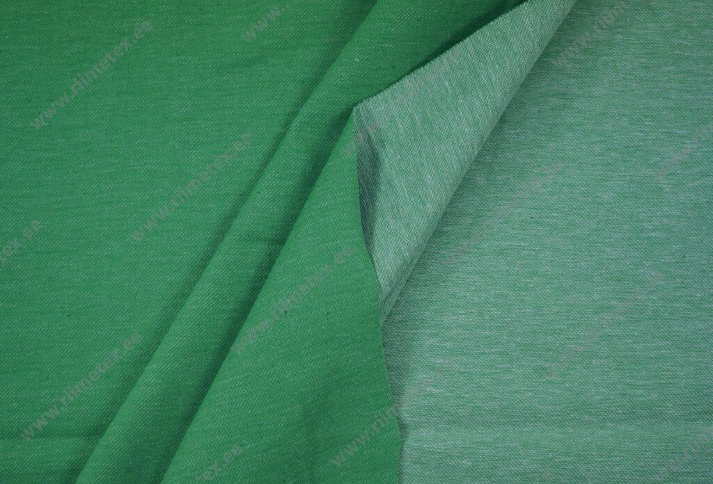 Teksatrikotaaž roheline (diagonaaltrikotaaž / Jeans Jersey)