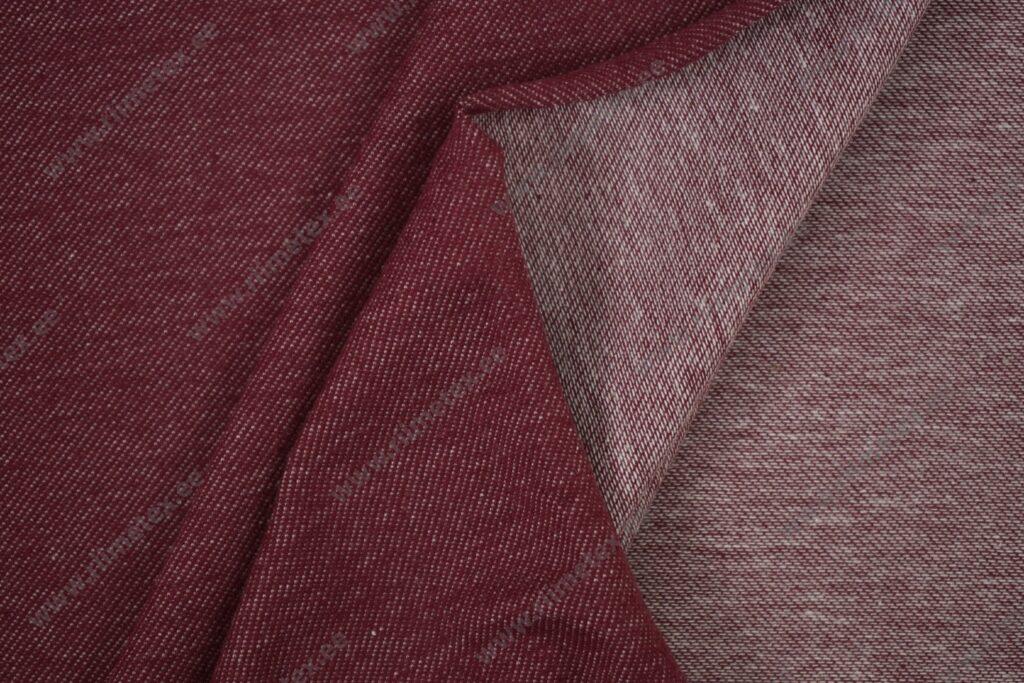 Teksatrikotaaž tumepunane (diagonaaltrikotaaž / Jeans Jersey)
