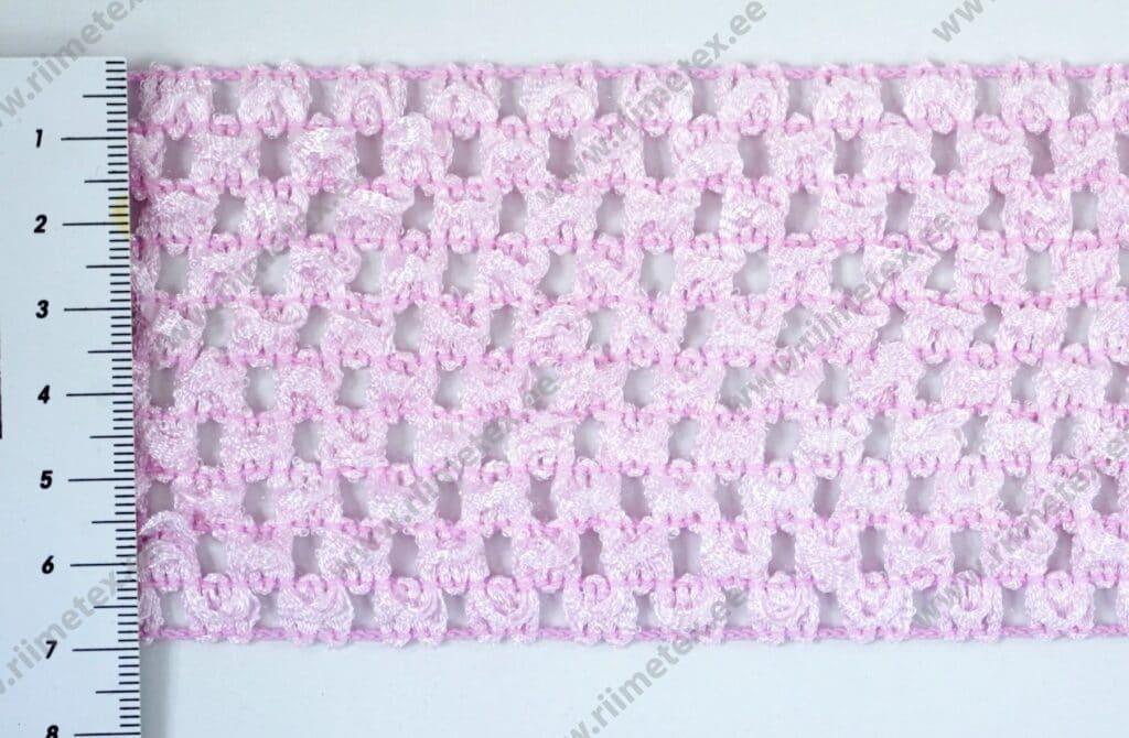 """Heegeldatud lai kumm roosa (""""TuTu"""" värvel)"""
