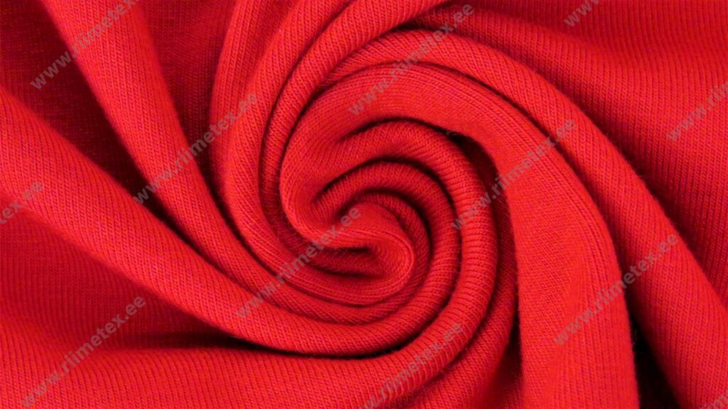 Trikotaažkangas punane (Rococco Red) Single Jersey