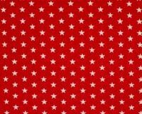 Trikotaažkangas valged tähekesed punasel Single Jersey