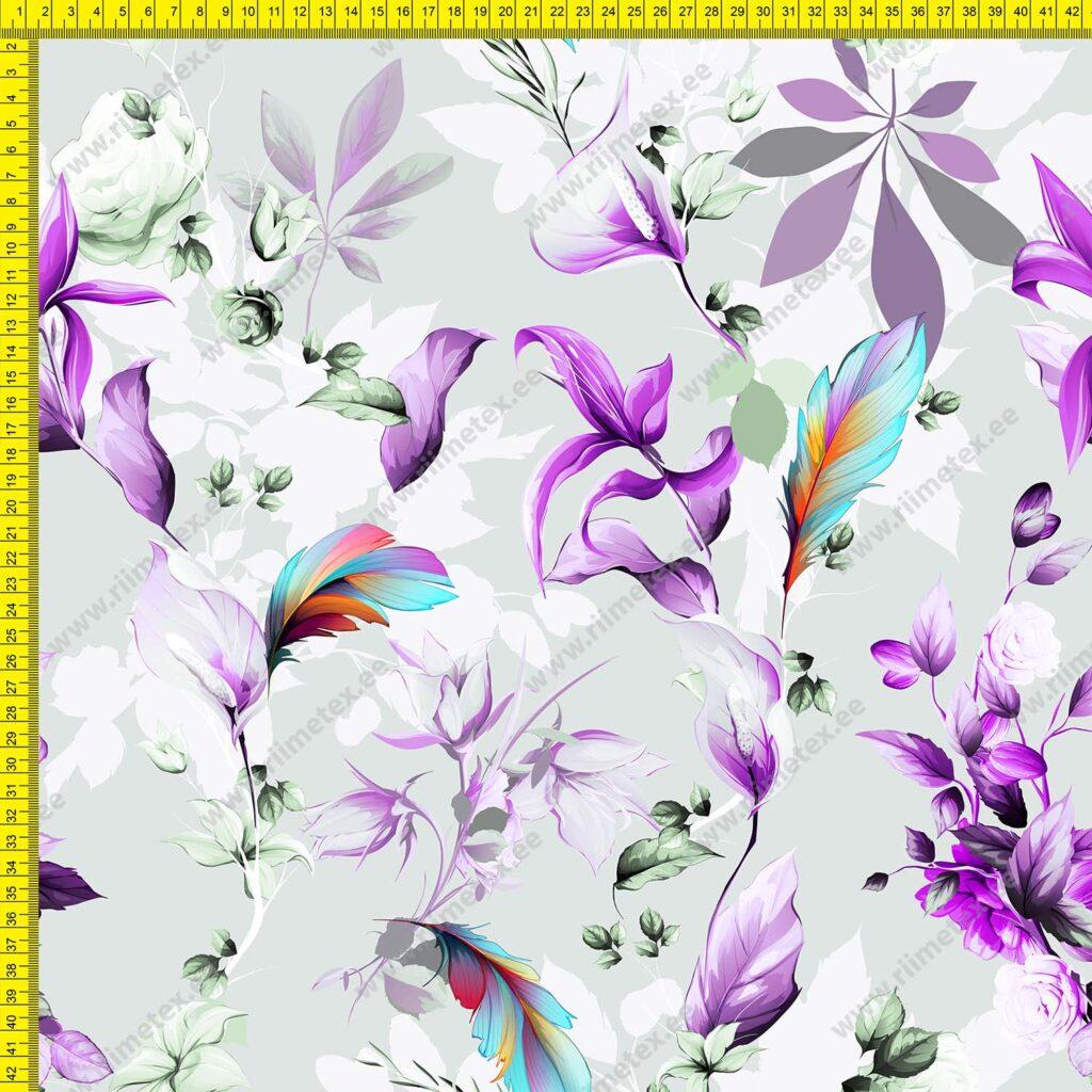 Softshell lillad ja rohelised õied ja lehed