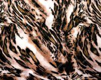 Trikotaažkangas loomamuster pruun /Single Jersey/