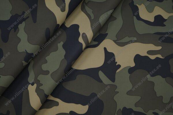 Veekindel kangas armeemuster roheline