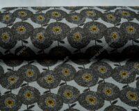 Meriinosegu žakaarkoeline trikotaaž lilled hall/ooker