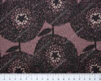 Meriinosegu žakaarkoeline trikotaaž lilled antiiklilla/vanaroosa