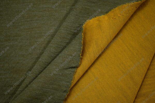 Meriinosegu kahepoolne trikotaaž khaki/ooker