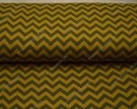 Meriinosegu kahepoolne trikotaaž khaki/ooker sik-sak